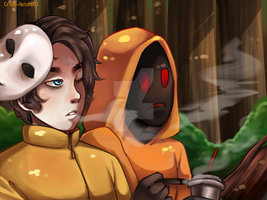 |Masky and Hoodie|Cigarettes and Juice by Cross-Hatch001