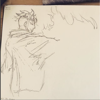 Marco The Phoenix Sketch by Leffyart