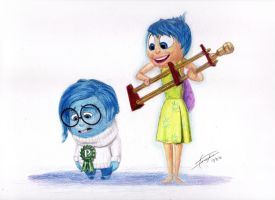 Inside Out - Joy and Sadness at The Trophy Town by rileyandersen