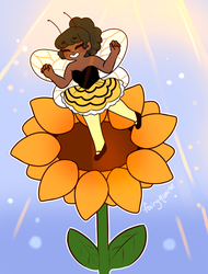 Sweet Little Bumble Bee by fairyquartz