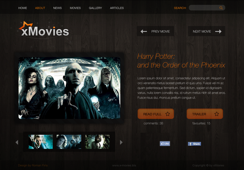 xMovies mini-site by swift20