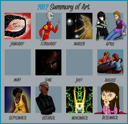 2012 A Year In Art by dedicatedfollower467
