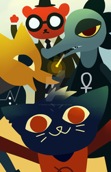 Night In The Woods by TheCrayonQueen