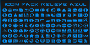 IconPack Relieve Azul by Agelyk