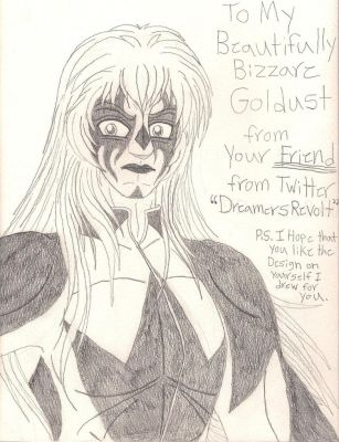 My Gift art for Goldust by DreamRevolution