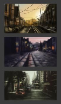Environment Sketches by Anastasja-A-Art