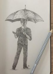 Sketch - Umbrella by Aenwynn