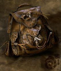 Leather Backpack by Lynfir