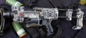 Nerf Agents of Shield Camo White by dog-green-1