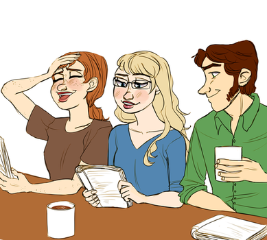 Frozen Actor!AU- Table Reading (Redraw) by maybelletea