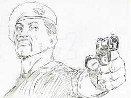 Expendables 2:Sylvester Stallone by StevenWilcox