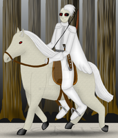 Art Trade: Pestilence, Rider of the Apocalypse by hippo2