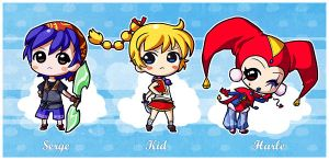 Chrono Cross chibis by CplSquee