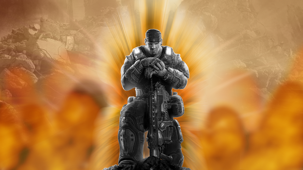 Gears of War Enter The Flame by JPortfolio