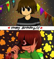[FnafxUndertale] Happy Birthday Friend!!! by MADzo22