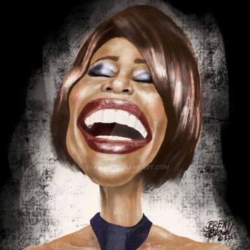 WhitneyHouston-caricatureresolution2018-day22 by bre-bro