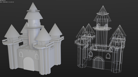 Low-poly castle by betasector