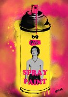 Sid Vicious spray can by Evlisking