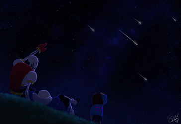 Undertale - Starry Night by TC-96