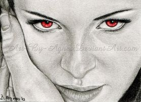 Bella's eyes ACEO_Twilight Breaking Dawn part 2 by AgnesBuronyi
