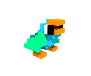 Popu the Parrot - Voxel by therossen