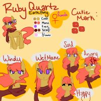 :New OC: RUBY QUARTZ by PaperKoalas