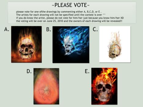 Contest: Flaming Skull by stormthor