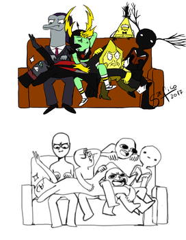 Villains - Draw The Squad Couch by Sa-fico