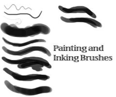 Painting and Inking Brushset by MorbidFool