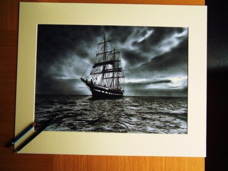 The old ship (after the storm) by Steve2656