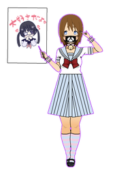 Sailor/menhera dress and bear mask (With export!) by AestheticNyx