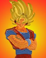Goku if he was made of fruit by S3inf3ld