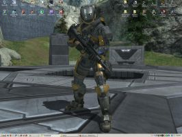 Halo: Reach Spartan Desktop by AceDarkfire