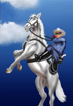 Lone Ranger with Silver commission by Cadre