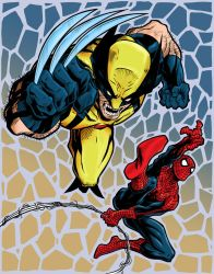Wolverine and Spiderman colors 3 by joriley