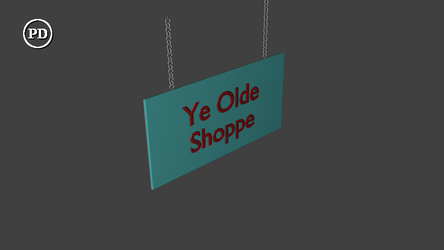 Blender Hanging Sign - PD by over2sd
