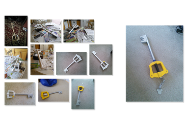 Keyblade Paper Mache by watermeloons
