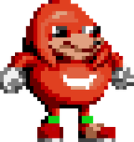 Knuckles Sings Sprite (Sonic 1 Style) by Slick-Nick