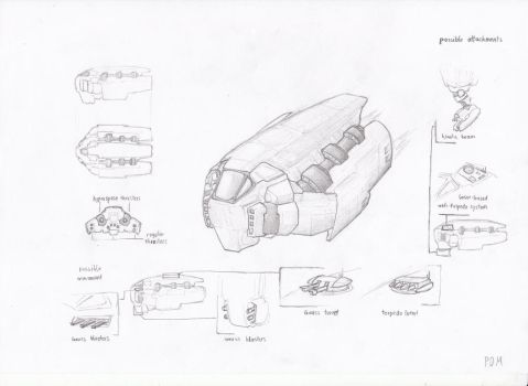 Spaceship - Sketch by PDMonitor