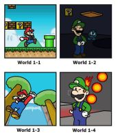 SMB: World 1 by minimariodrawer