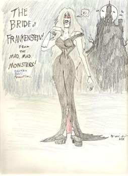 Bride of Frankenstein from The Mad, mad monsters! by gothold
