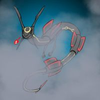 Shiny Rayquaza by ThunderArc