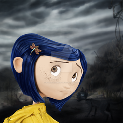 Coraline by RoadKillBarbie