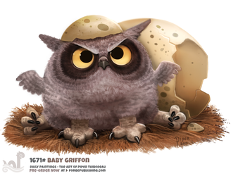 Daily Painting 1671# Baby Griffon by Cryptid-Creations