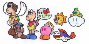 The Paper Mario party by MistyKoopa