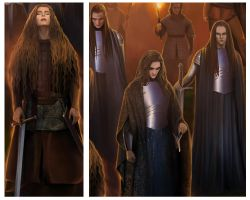 Fragment.Haleth,Caranthir and his elves. by steamey