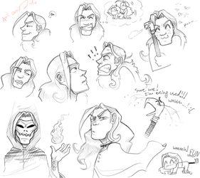 Lucius Malfoy Doodles by gilll