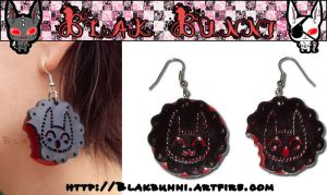 Dark Cookie Earrings by BlakBunni