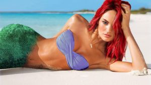 Candice Swanepoel as Ariel by PrinceRomualdo