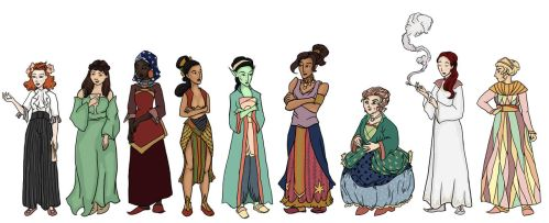 Female Characters by inasmuch